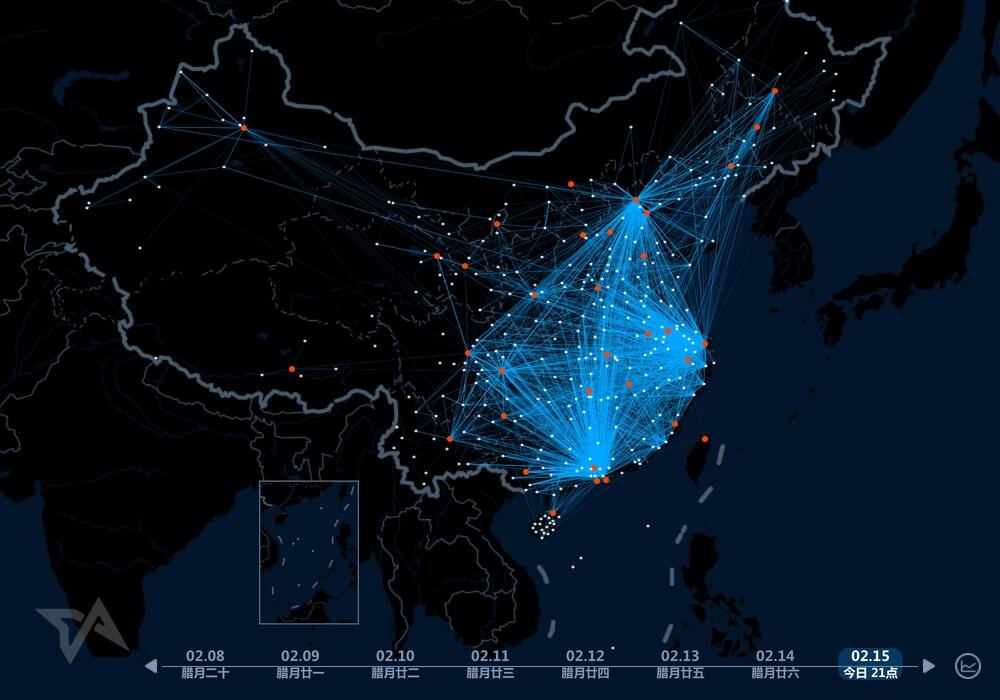 Chinese New Year 2015 Heat Map